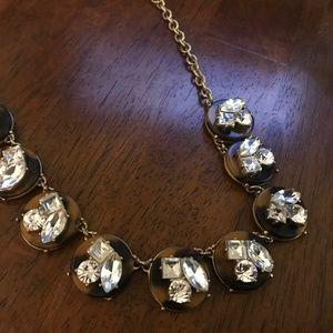 Rhinestone Coppertone holiday necklace